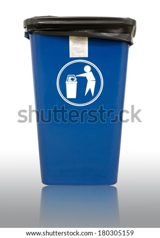 Empty bin isolated - stock photo