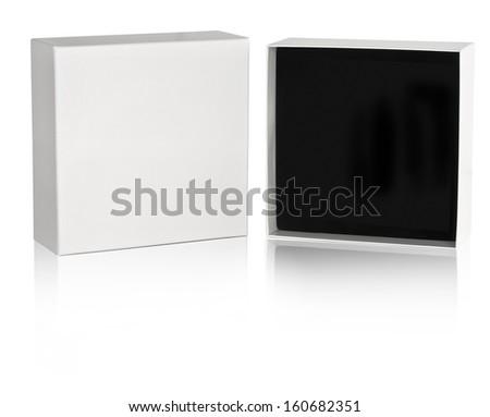 empty black and white box - stock photo