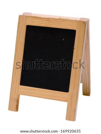 Empty blackboard menu stand