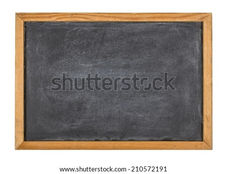 Empty blackboard with a wooden frame - stock photo