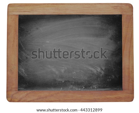 Empty blackboard with chalk rubbed texture