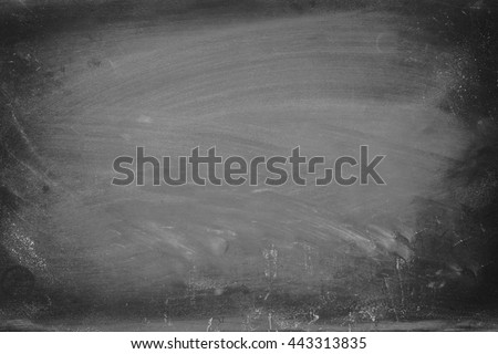 Empty blackboard with chalk rubbed texture - stock photo