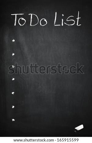 empty Blackboard with To Do List - stock photo