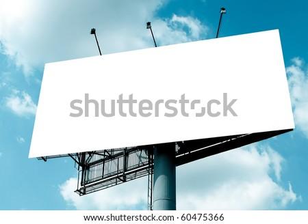 empty blank billboard - stock photo
