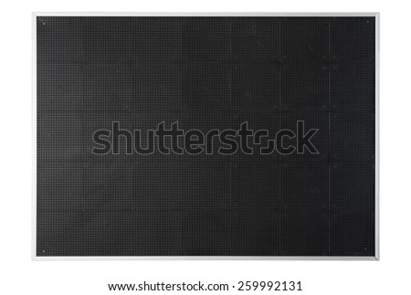 Empty Blank Black Board. Restaurant or Bar Board isolated on White Background with Copy Space for Text or Image - stock photo