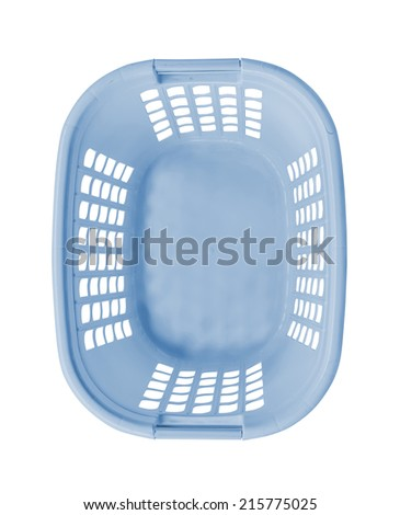 Empty blue basket top view - stock photo