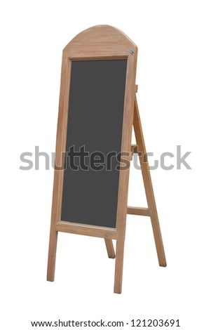 Empty Board Menu Isolated On White Background - stock photo