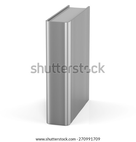 Empty book blank cover template brochure single document textbook cookbook workbook notebook knowledge media content information. 3d render isolated on white background - stock photo