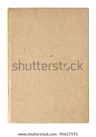 empty book pages isolated on white - stock photo