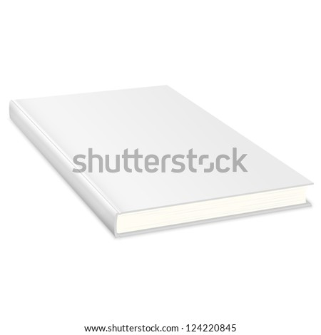 Empty book with white cover. Raster version - stock photo
