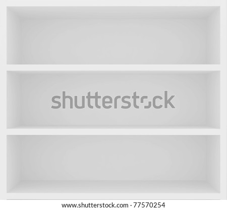 empty bookshelf - stock photo