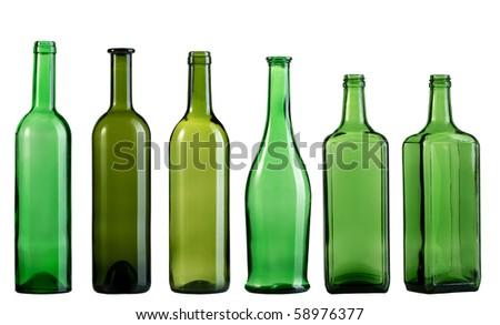 Empty bottle - stock photo