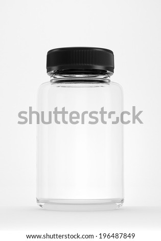 empty bottle isolated on white.  - stock photo
