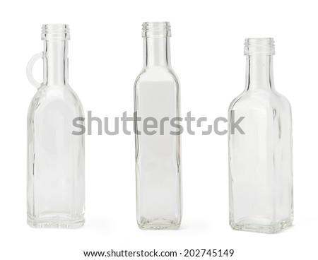 Empty bottle isolated on white background. - stock photo