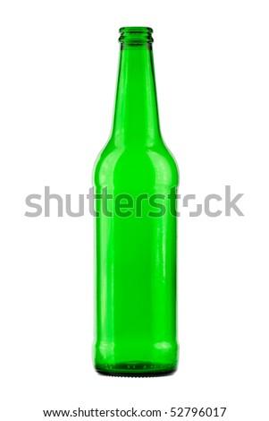 empty bottle on a white background - stock photo