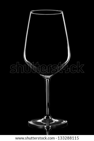Empty bottle on black background with copy space - stock photo