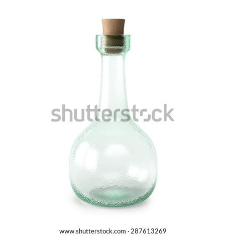 empty bottle potion. isolated on white background. - stock photo