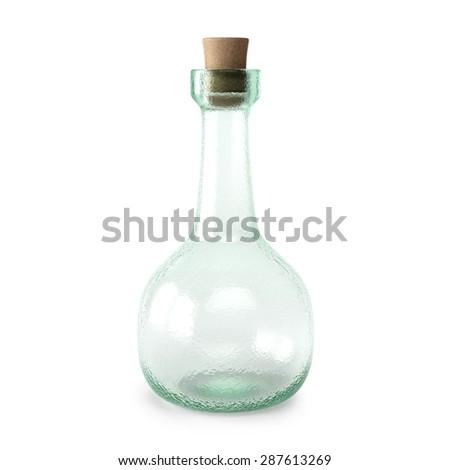 empty bottle potion. isolated on white background. - stock photo