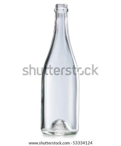 Empty bottle worth on a white background - stock photo