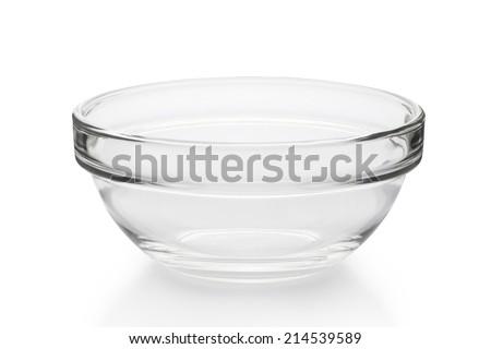 empty bowl isolated on white - stock photo