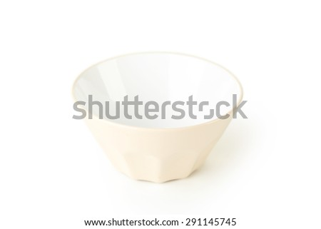Empty bowl isolated on white