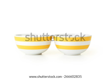 Empty bowls isolated on white