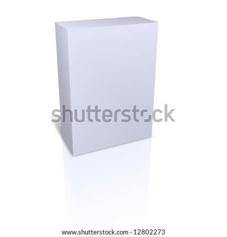 empty box isolated in white background