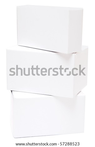 empty boxes cardboard - stock photo