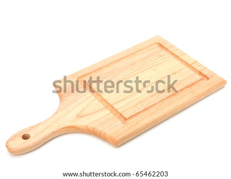 empty breadboard isolated on white background - stock photo