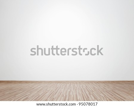 Empty bright interior with copy space - stock photo