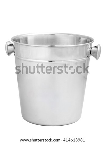 empty bucket for champagne bottle isolated on a white. Isolated on white background - stock photo