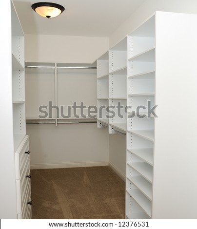 Empty Built In Clothes Closet A Luxury Home