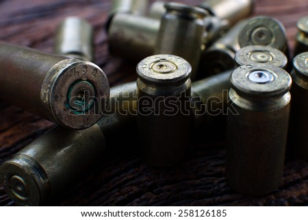 Empty Bullets / Rounds - stock photo
