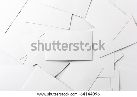 Empty Business Cards - stock photo