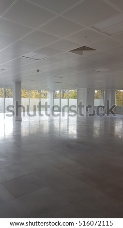 Empty business office room or space to hire out
