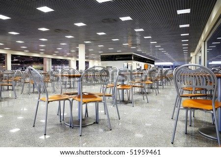 Empty cafe interior - stock photo