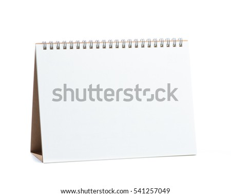 Empty Calendar isolated on white background