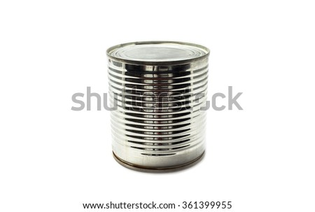 empty can on isolated background