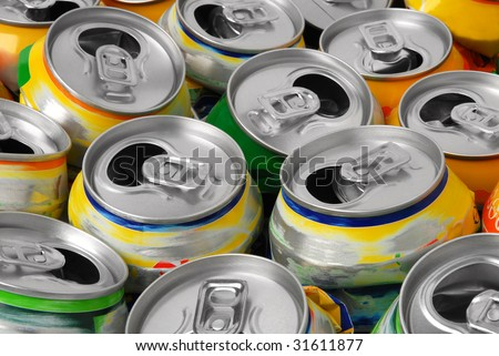 Empty cans - stock photo