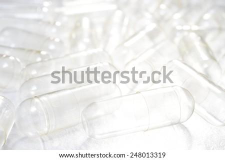 empty capsules for medicine background  - stock photo
