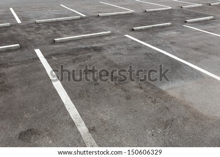 Empty car park - stock photo