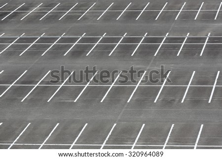 Empty car parking lot with white mark - stock photo
