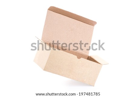 Empty Cardboard Box isolated on a White background