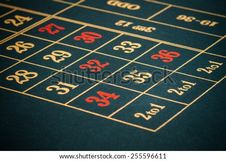empty casino table - stock photo