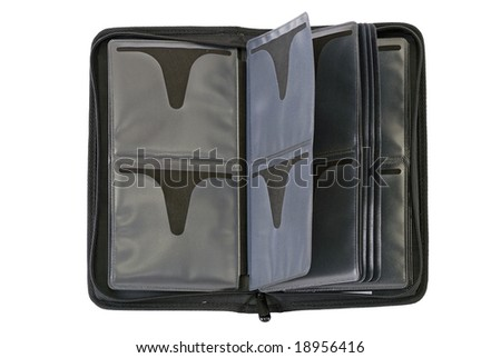 Empty cd jewel case textile box - stock photo