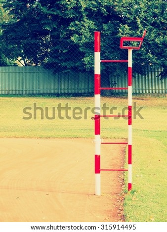 empty chair for tennis referee - stock photo