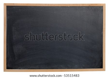 Empty Chalk Board - stock photo
