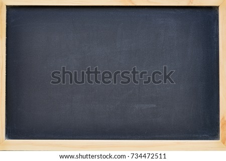 empty chalkboard in wood frame with free space for text - can use to display or montage on product