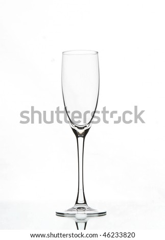 empty champagne glass - stock photo