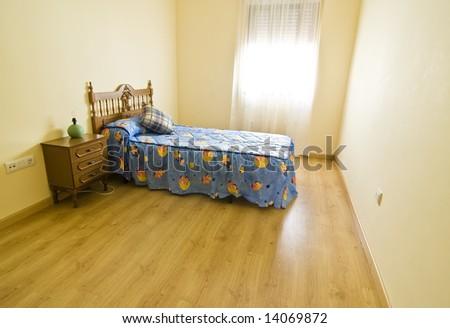 Empty child room, unfurnished, empty. - stock photo